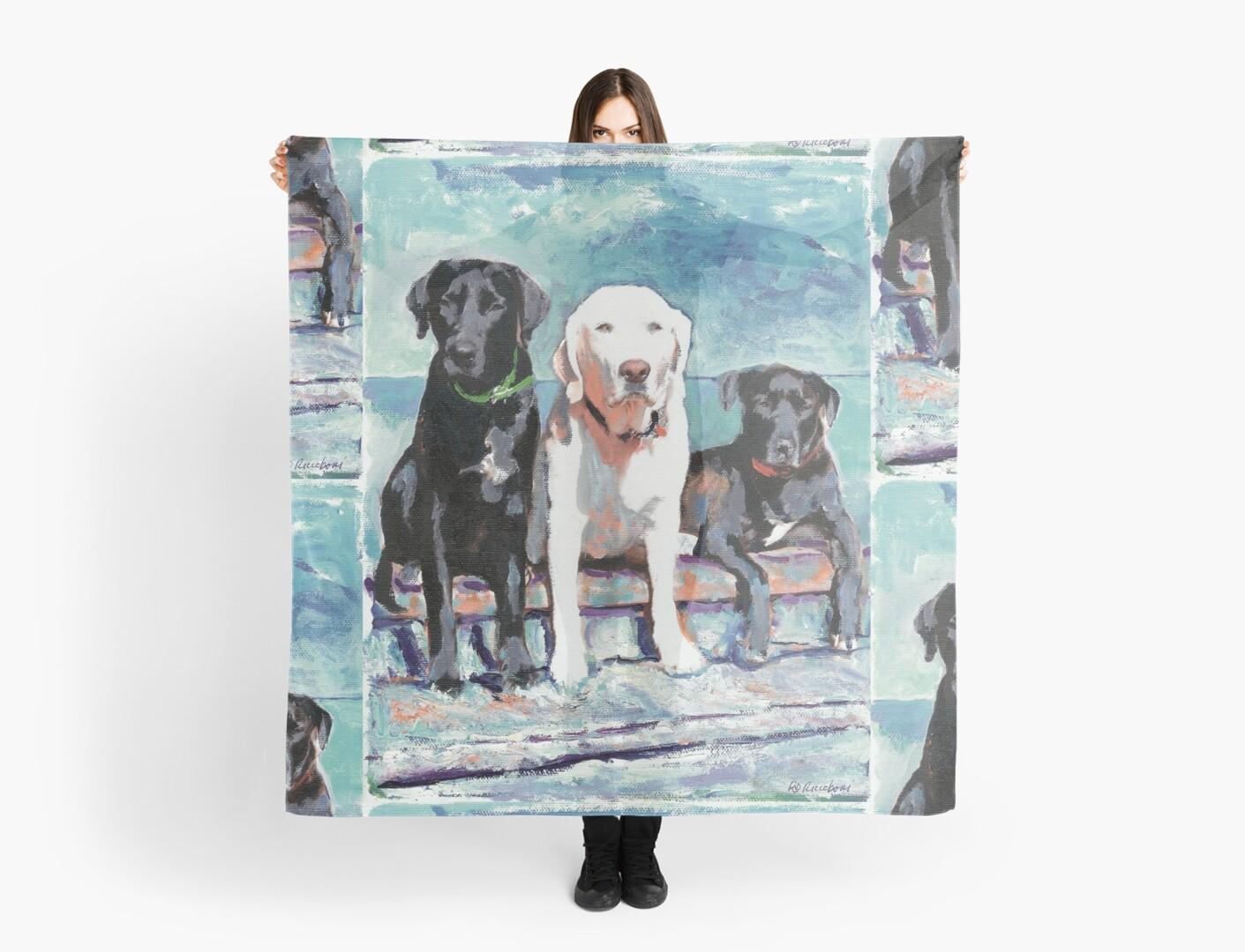 Three Labrador Retriever Dogs by RDRiccoboni