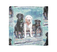 Three Labrador Retriever Dogs Scarf