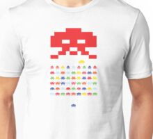Space Invader - Multi Colour Unisex T-Shirt
