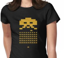 Space Invader - Gold Womens Fitted T-Shirt