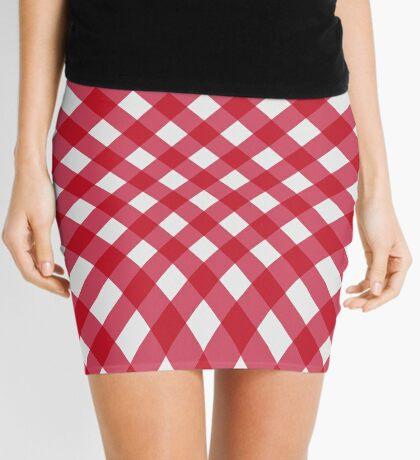 Latticed red gingham Mini Skirt