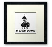 oh Mickey Milkovich you're so fine Framed Print