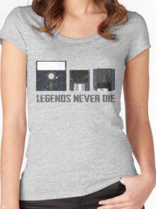 Legends Never Die Data Discs Women's Fitted Scoop T-Shirt