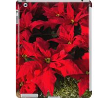 Happy Scarlet Poinsettias Christmas Star iPad Case/Skin