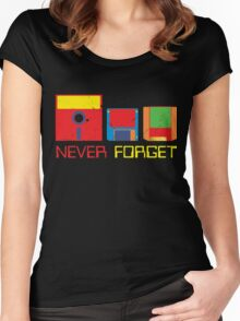 Never Forget Digital Data Formats Women's Fitted Scoop T-Shirt
