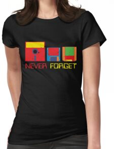 Never Forget Digital Data Formats Womens Fitted T-Shirt