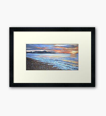 Turner Beach at Dusk Framed Print