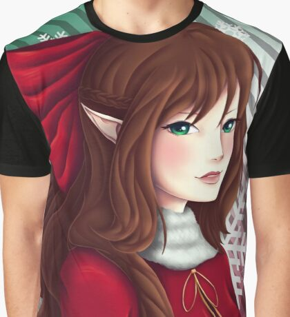 Christmas Elf Graphic T-Shirt