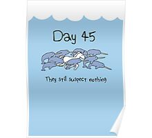 Day 45. They still suspect nothing (Narwhals + Unicorn) Poster