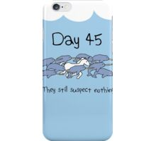 Day 45. They still suspect nothing (Narwhals + Unicorn) iPhone Case/Skin