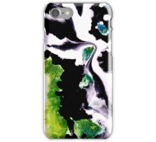 Audacity abstract painting in Green Black and White iPhone Case/Skin