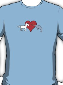 Unicorn Loves Narwhal T-Shirt