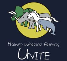 Horned Warrior Friends UNITE! (white version) by jezkemp