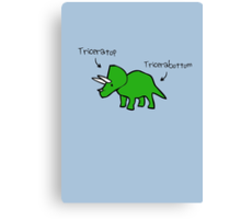 Triceratops Tricerabottom Canvas Print