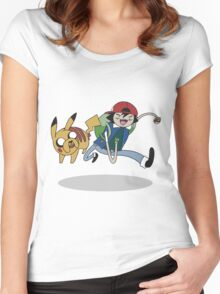 Poketime Women's Fitted Scoop T-Shirt