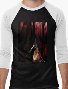 Pyramid Head wish you a happy Halloween Men's Baseball ¾ T-Shirt