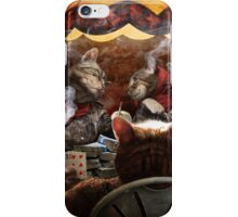 Cats play poker iPhone Case/Skin