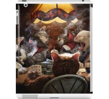 Cats play poker iPad Case/Skin