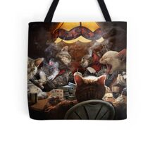 Cats play poker Tote Bag