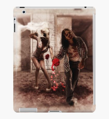 Happy Bride and Zombie Groom iPad Case/Skin