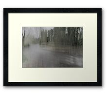 Fall Water Impression Framed Print
