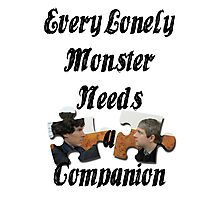 Every Lonely Monster... [Black/ Johnlock] Photographic Print