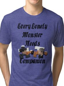 Every Lonely Monster... [Black/ Johnlock] Tri-blend T-Shirt