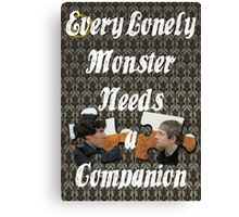 Every Lonely Monster...[Johnlock] Canvas Print