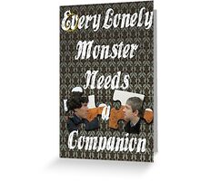 Every Lonely Monster...[Johnlock] Greeting Card