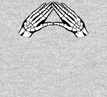 'Hands and Bones' White Zipped Hoodie