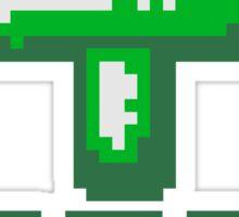 cool pixel gamer retro 8 bit muster kreuz christ logo design text schriftzug jesus christus  Sticker