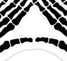 'Hands and Bones' black Sticker