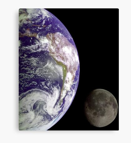 Earth and Moon Canvas Print