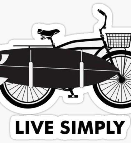 Live simply surfer Sticker