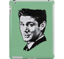 Dean Winchester in black. iPad Case/Skin