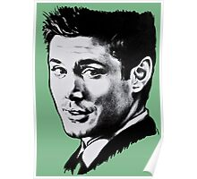 Dean Winchester in black. Poster
