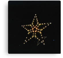Christmas star Canvas Print