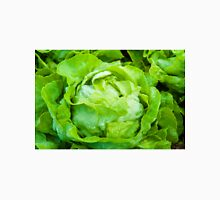 Closeup on fresh wet lettuce in the garden Unisex T-Shirt