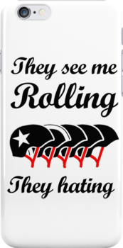 They See Me Rolling (Roller Derby) Black design by jezkemp