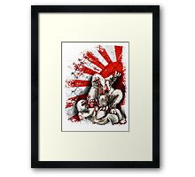 MMA fighting gorillas Framed Print