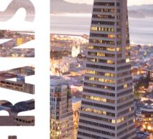 Typography City Skyline: San Fransisco Sticker