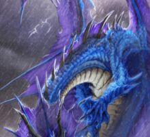 Blue Storm Dragon Sticker