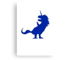 Unicorn T-Rex Canvas Print
