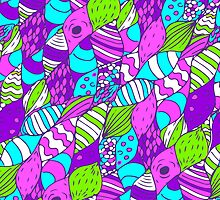 Bright psychedelic doodle by julietblnk