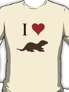 I Love Otters T-Shirt