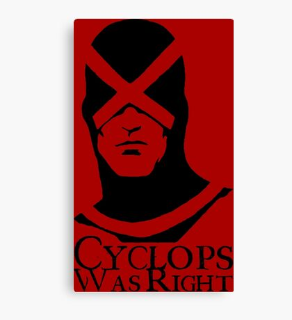 Cyclops Was Right Canvas Print