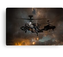 Apache Storm UK Army Helicopter Canvas Print
