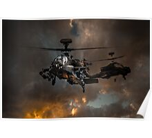 Apache Storm UK Army Helicopter Poster