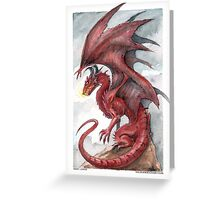 Red Dragon - watercolours Greeting Card