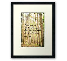 Less Traveled Framed Print